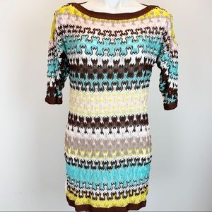 Missoni Italy knit tunic top sheer sweater dress